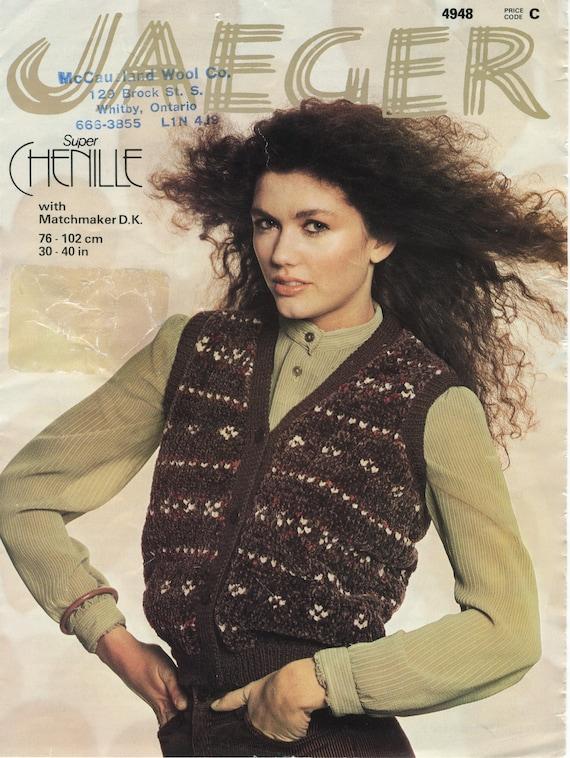 Womens Waistcoat Jaeger Knitting Pattern Book 4948 Etsy