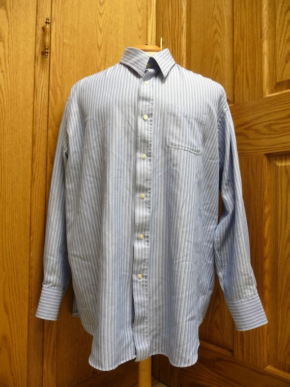 Signature Carrington Men's Cotton/Polyester Blue S