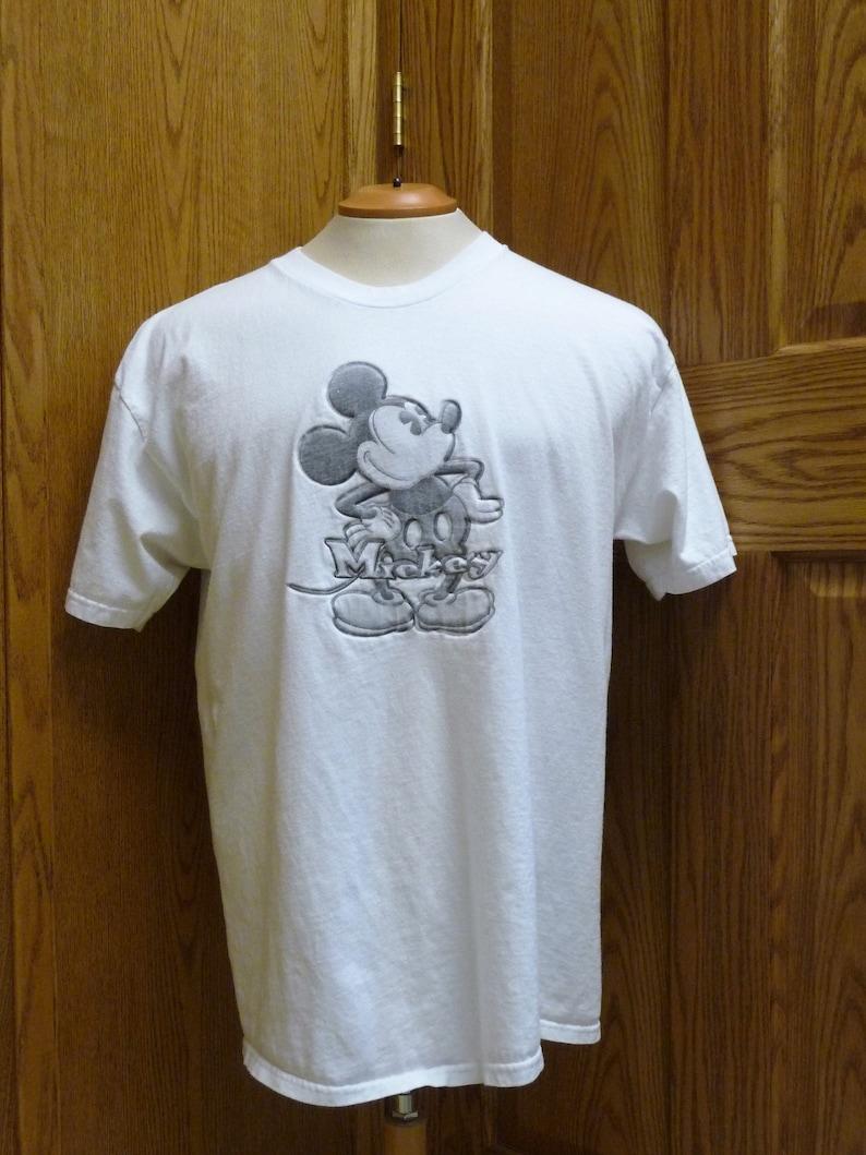 f54b105a Disney Store Women's Cotton White Mickey Mouse T-Shirt | Etsy