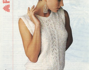 Women's Vest top Patons Knitting Pattern Book 8724 (Patons & Baldwins Limited); Good; USED