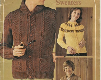 Family Sweaters Beehive Patons & Baldwins Knitting Pattern Book 401 (Toronto; Fair; USED)