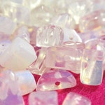 Opalite Moonstone AAA Chip Chunk Nugget Pebble Beads 3-7mm Drilled Rainbow Iridescent  A7