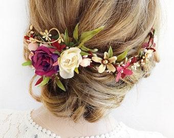 Floralen Kopfschmuck Hochzeit Braut Haar Stuck Blume Etsy