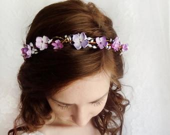Purple flower crown  86acec67d54