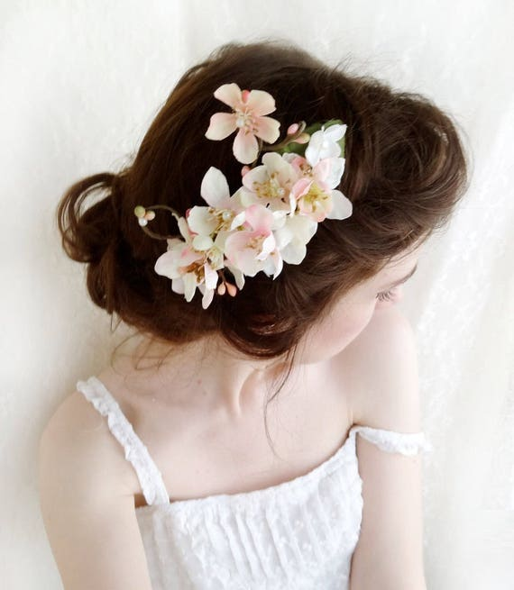 Cherry blossom hair comb blossom hair accessories pink etsy image 0 mightylinksfo