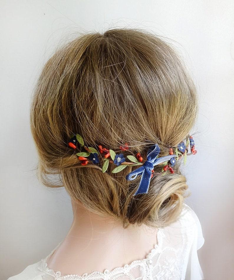 Fall headpiece fall hair comb fall hair piece wedding rust  3861708664c