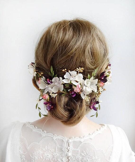 Wedding Hair Piece White Flower Wedding Hair Flower Floral Hair Piece Wedding Floral Hair Comb Wedding Hair Clip Bridal Headpiece