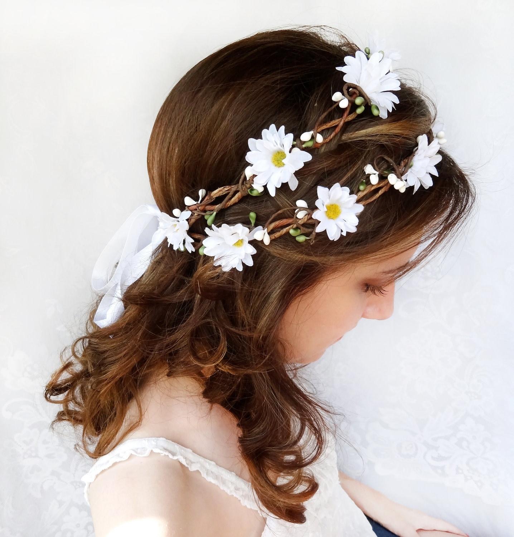Flower Crown Wedding Daisy Headband Daisy Flower Crown Etsy