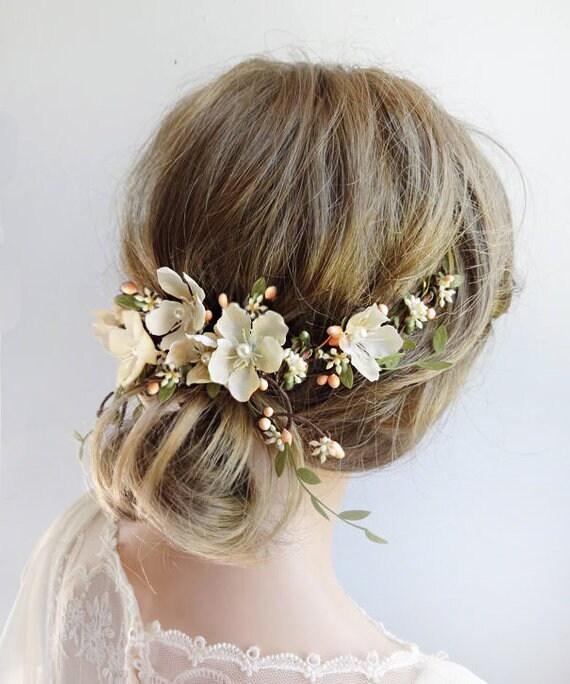 Bridal Hair Vine Fairytale Wedding Floral Hair Vine Floral Hair