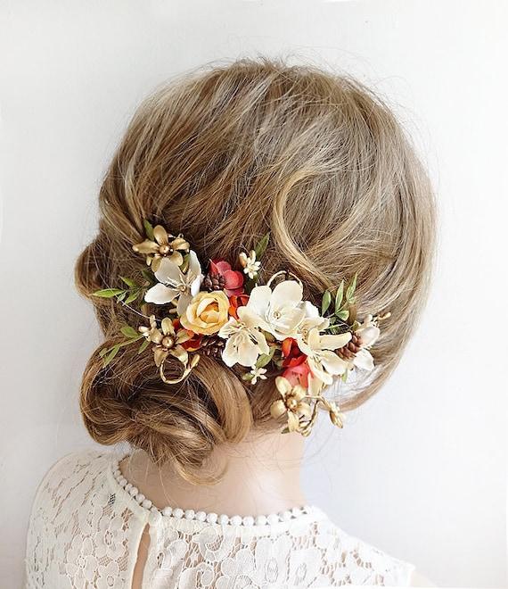 Fallen Sie Haare Hochzeit Herbst Kopfstuck Herbst Kopfstuck Etsy