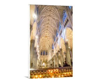 St Patrick Cathedral, NYC Art, Church Architecture Art, New York City Photograph, Manhattan Gift, Church Art, NYC Gift, New York Art