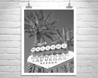 Las Vegas Art Neon Sign Midcentury Photo Black And White Nevada Strip Old Gift