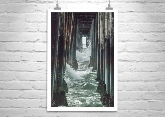 Wall Art With Oceanside Pier San Diego California Etsy