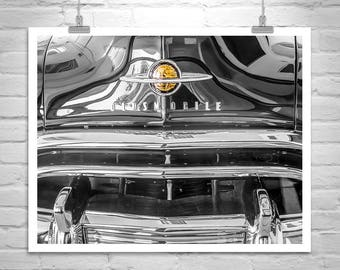 Oldsmobile 88 Car Picture, Wall Art Old Cars, Olds Rocket 88, Automobile Art, Vintage Oldsmobile, Black and White, Car Art, Oldsmobile Gift