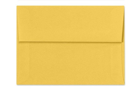 yellow envelopes set of 25 a7 envelopes perfect for 5x7 etsy