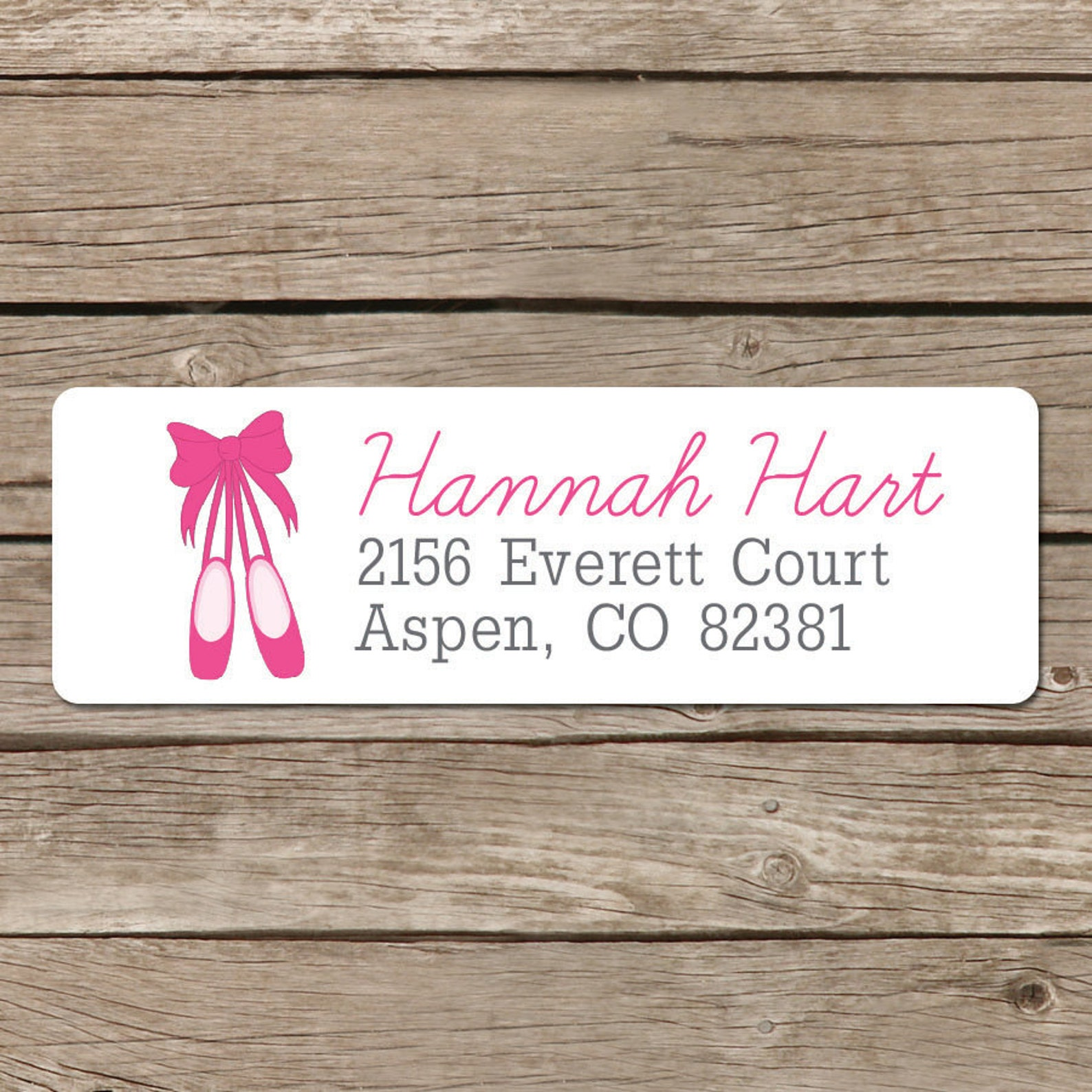 return address labels - ballerina - personalized - stickers - ballet - custom label