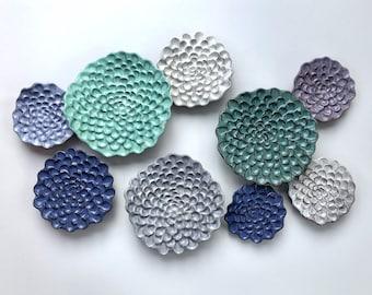 "Wall Flower Cluster - ""Ocean"""