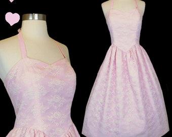 Eighties Prom Dress Peach