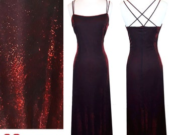 9c387e4c Vintage 90s Dress XS S Extra SMALL 1990s Red Metallic Lurex Grunge Glam  Prom Cocktail Party Gown RAMPAGE Black S Criss Cross Spaghetti Strap