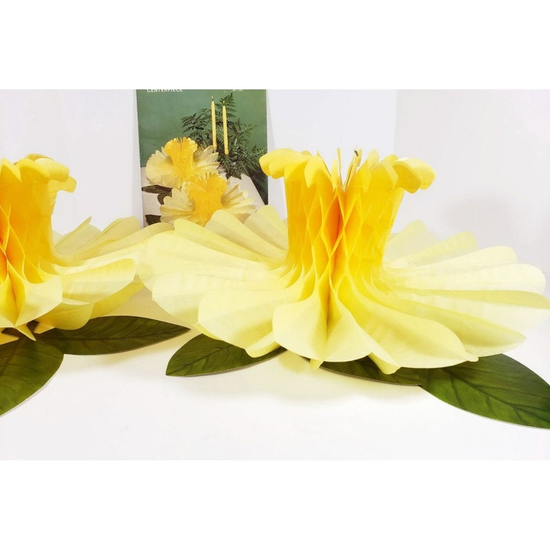 Vintage Hallmark Plans A Party Yellow Jonquils Table Center Piece Wedding Bridal Shower Easter Spring