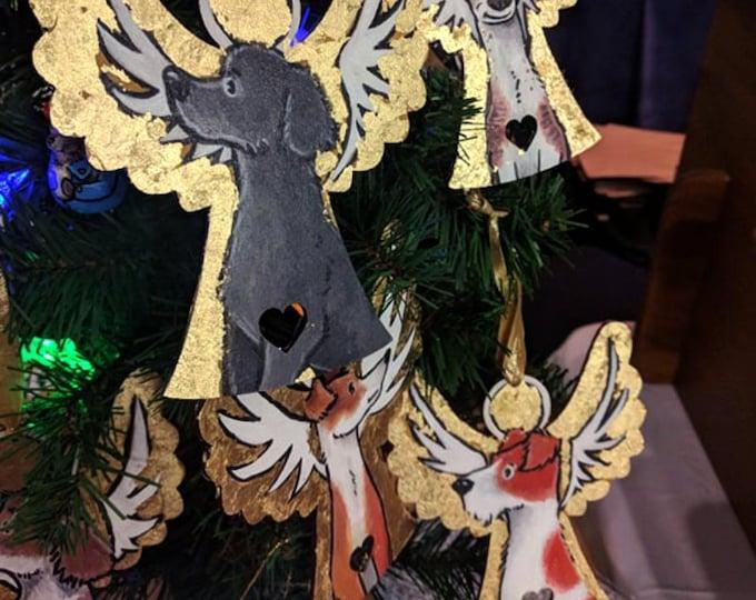 Christmas Large Angel Decoration Ornament Handmade Hand Painted