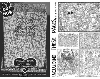 DIGITAL COPY Oodles of Dog Doodles Colouring Pages Download