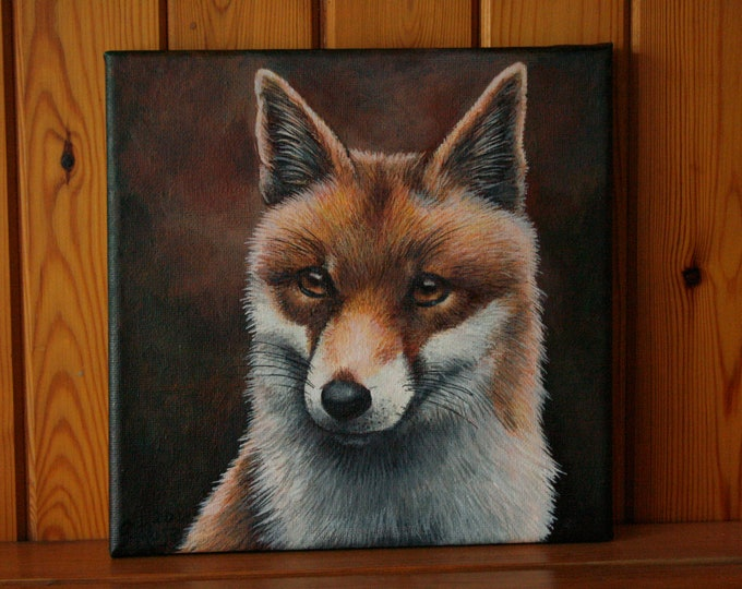 Red Fox Original Painting on Canvas