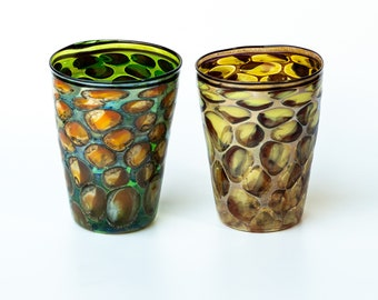 Murano glass  water glasses. set of 2 pieces.