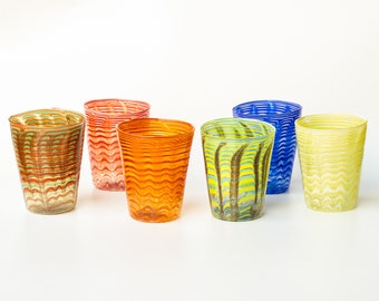 Murano glass water glass 6 pieces