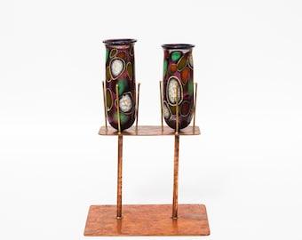 Murano glass blown candleholder