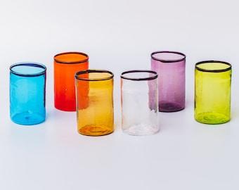 6 bicchierini in vetro di Murano