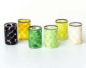 Murano glass  shot glasses. Set of 6 pieces