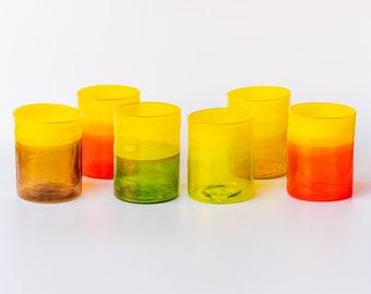 Murano glass -water glasses- set 6 glasses