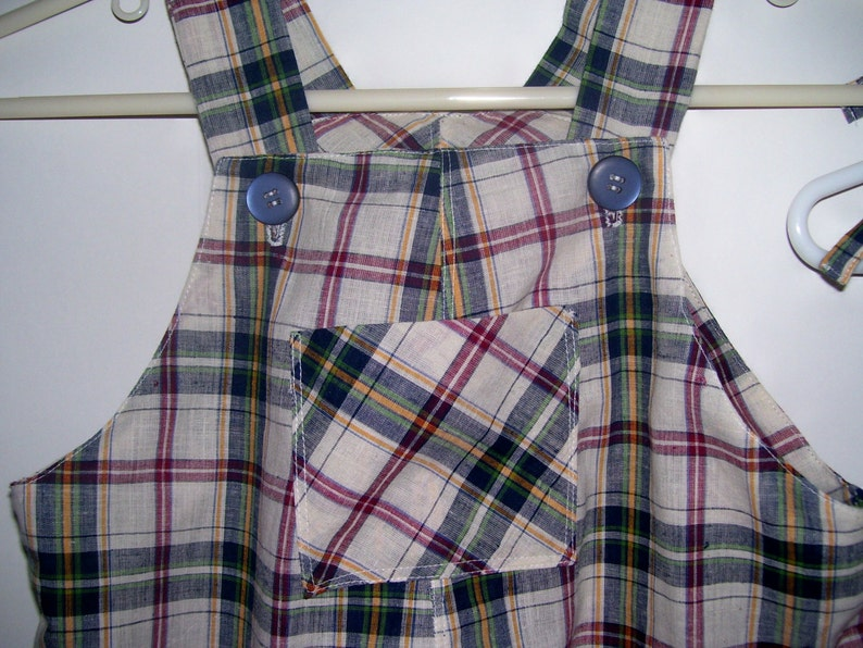 Matching Brother /& Sister Twin Madras Plaid Outfits size 1824 months free shipping