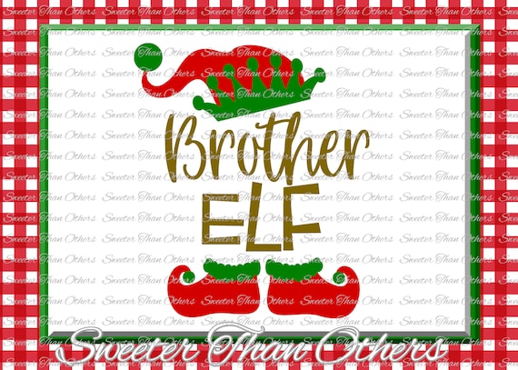 Brother Elf Svg Silhouette Christmas Svg Dxf Silhouette Etsy