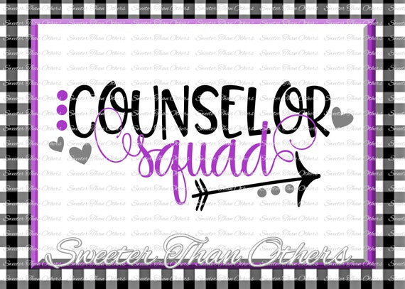 Counselor Squad svg Counselor svg Teacher Svg Dxf Silhouette | Etsy