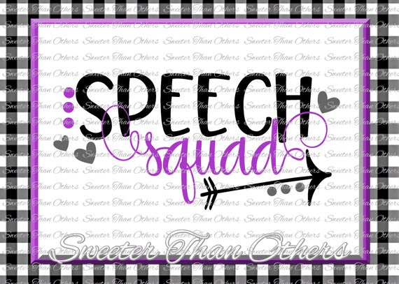 Speech Squad svg, Speech Therapist svg, Teacher Svg Dxf Silhouette Studios  Cameo Cricut cut file INSTANT DOWNLOAD Vinyl Design, Htv Scal Mtc