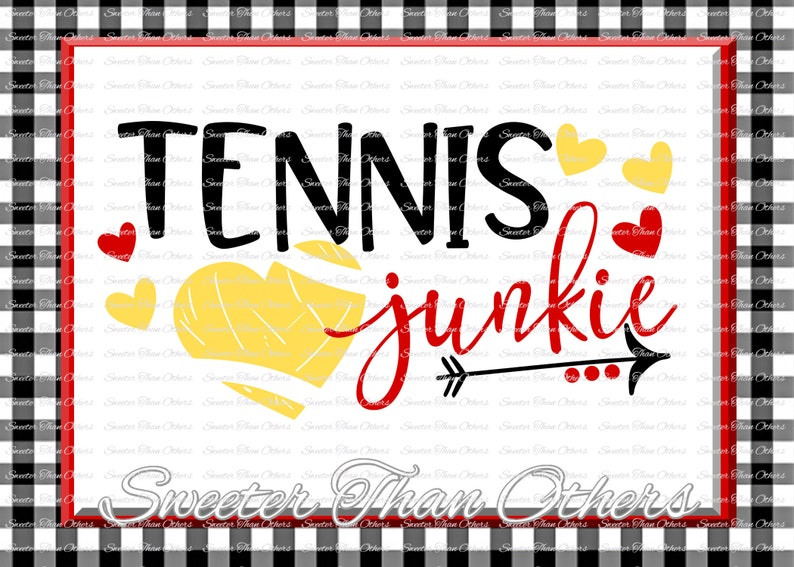 Tennis SVG Tennis Junkie Svg Distressed Tennis pattern Vinyl Design SVG and  DXF Silhouette, Cameo, Cricut, Instant Download