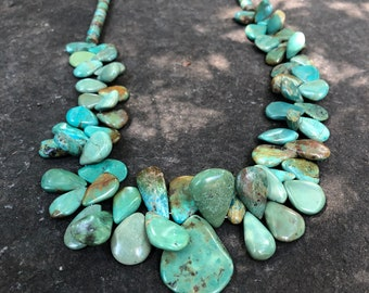 Southwestern Natural Turquoise Necklace\Layering Necklace\\Cowgirl Chic\\Southwestern Mother's Day Gift orig 345 dollars now 290 sale