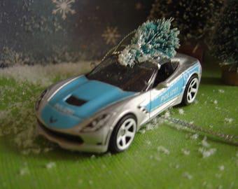 2015  Chevrolet Corvette Stingray German Polizei toy car Christmas tree ornament