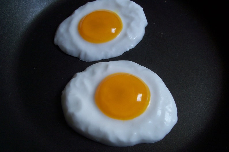Fried Egg Soap Party Favors  Set of 10 image 0