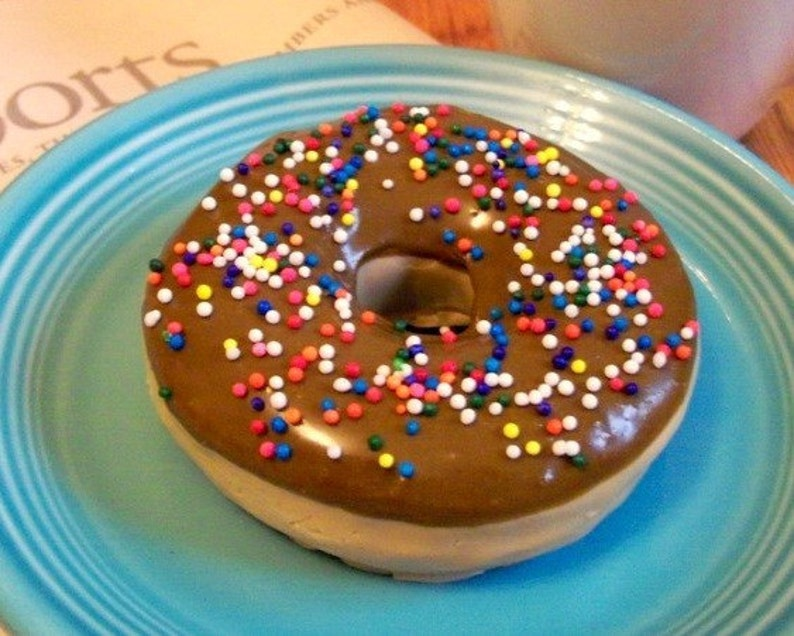 Chocolate Donut Soap With Sprinkles  Life Sized  Gift Ready image 0