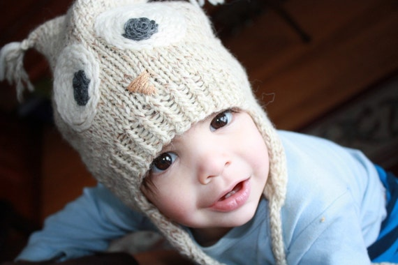 Hoot Toque Preemie To Adult Owl Hat Knitting Pattern Pdf Etsy