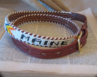 29b58e773 Vintage Cowhide Beaded Belt - Maine