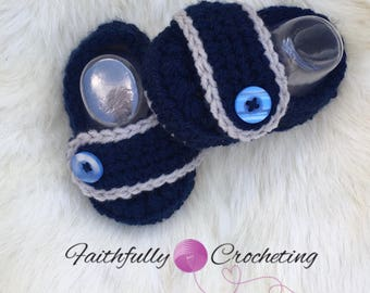 Newborn loafers.. navy blue loafers.. baby shoes... ready to ship