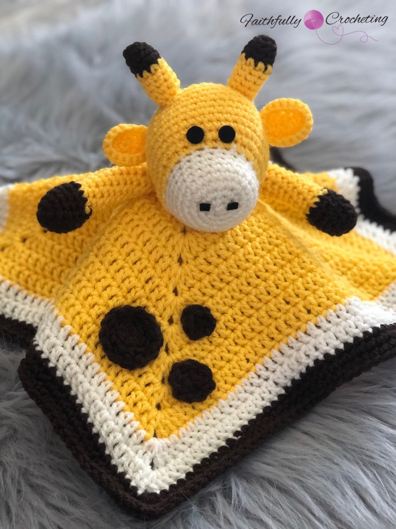 rattle giraffe security blanket ready to ship giraffe lovey toy Baby Giraffe lovey