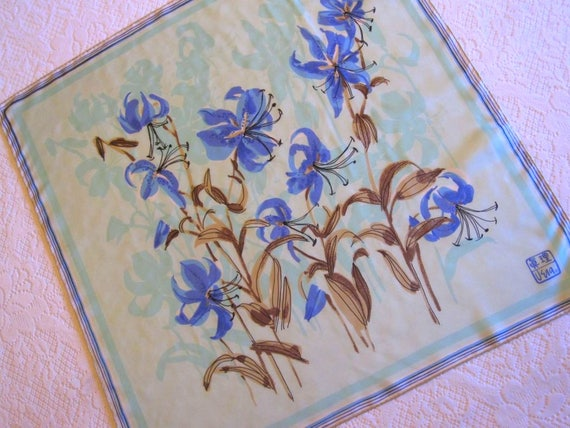 1974 Vera Asian Lilies Silk Scarf, Vera People's R