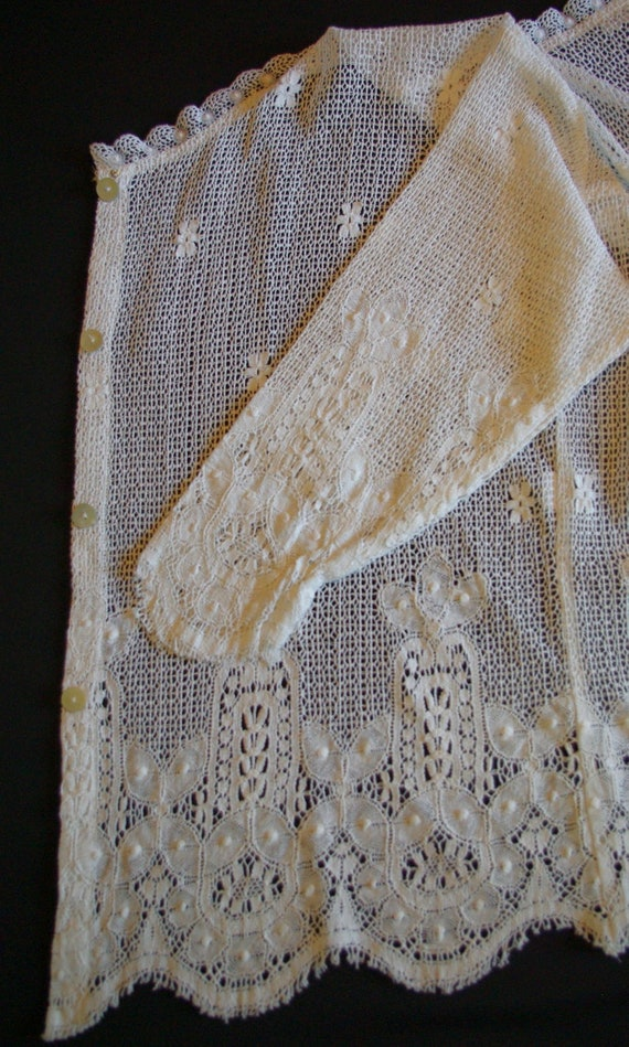 Eileen West White Lace Top, Lace Button Front Blo… - image 10