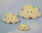 Cloud Buttons set of 3