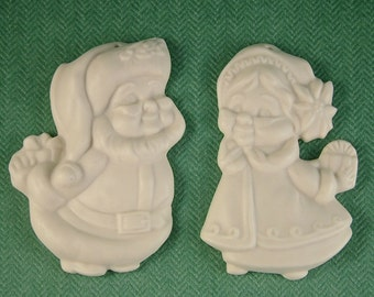 Mr. and Mrs. Santa Bisque Ornament
